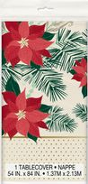 Red & Gold Poinsettia Plastic Table Cover